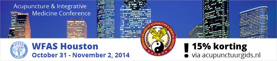 WFAS Houston 2014: 15% korting via acupunctuurgids.nl